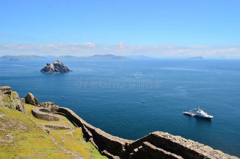 Mooi landschap van skellig Micheal Kerry Ierland stock foto's