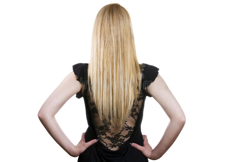 Mooi lang blond haar royalty-vrije stock fotografie