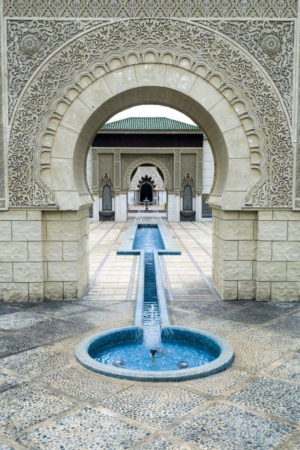 Mooi Marokkaans Paviljoen royalty-vrije stock afbeelding