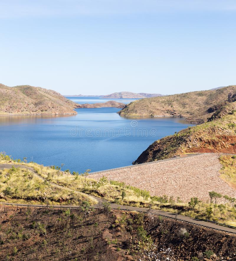 Mooi Meer Argyle in Westelijk Australië stock fotografie