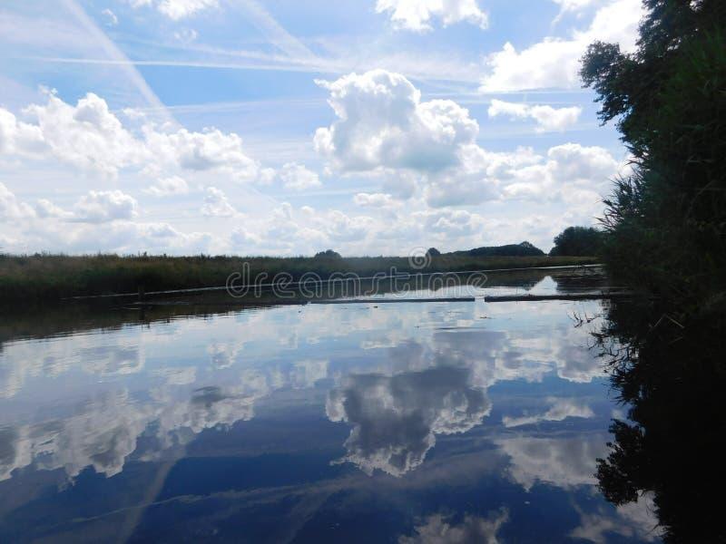 Mooi meer in Holland royalty-vrije stock foto's