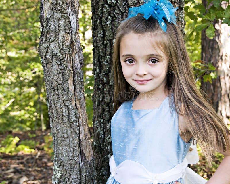 Mooi Meisje in Blauw royalty-vrije stock afbeelding