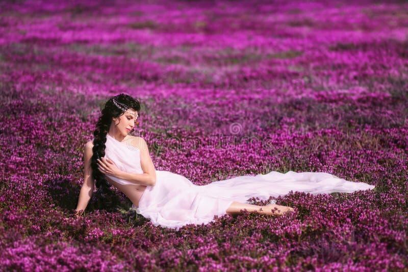 Mooi meisje in een Griekse kleding royalty-vrije stock fotografie