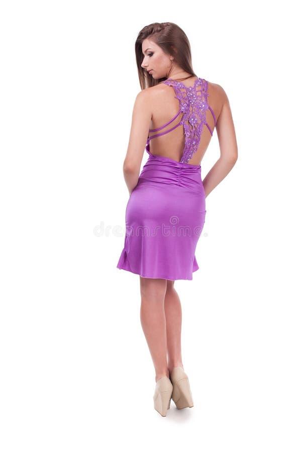 Mooi meisje in een kleding royalty-vrije stock afbeelding