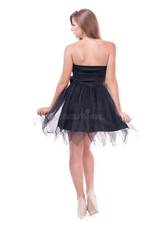 Mooi meisje in een kleding stock afbeelding