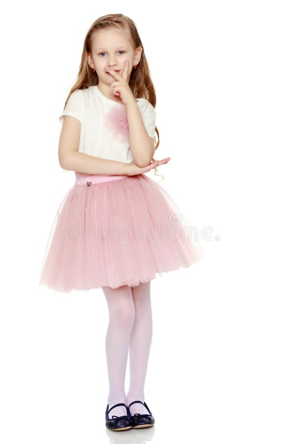 Mooi meisje 5-6 jaar stock fotografie