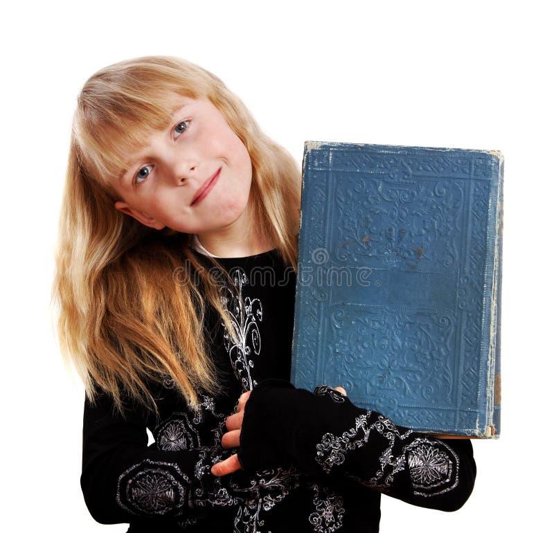 Mooi meisje met boek. royalty-vrije stock afbeelding