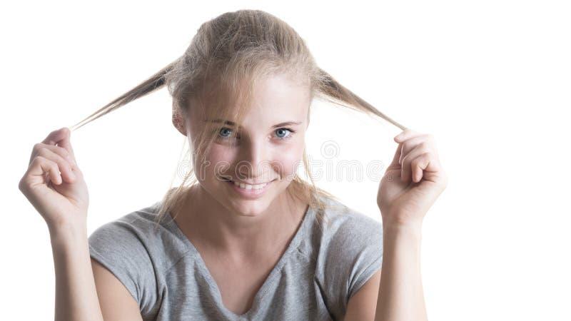 Mooi meisje met een glimlach royalty-vrije stock fotografie