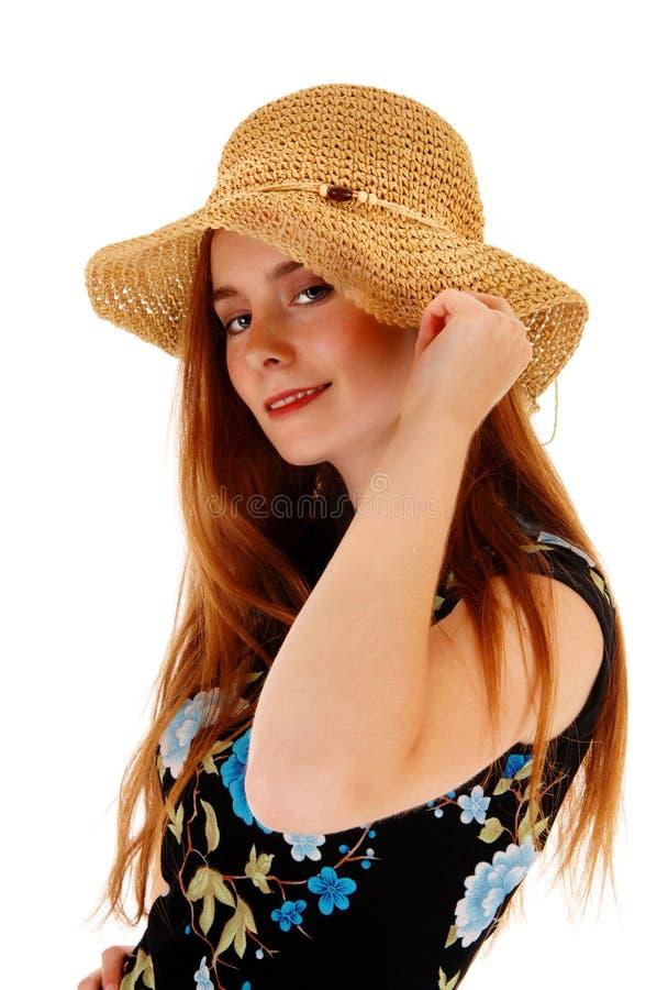 Mooi Meisje met Hoed royalty-vrije stock foto