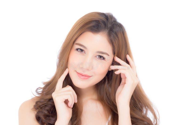 Mooi meisje met make-up, vrouwen en huidzorg kosmetisch concept royalty-vrije stock afbeeldingen