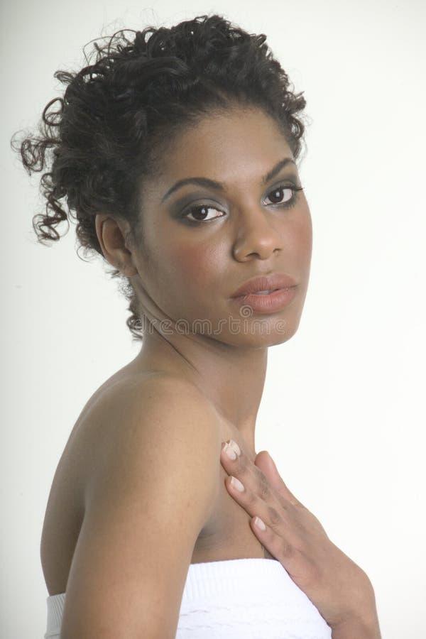 Mooi meisje met schitterende huid royalty-vrije stock foto