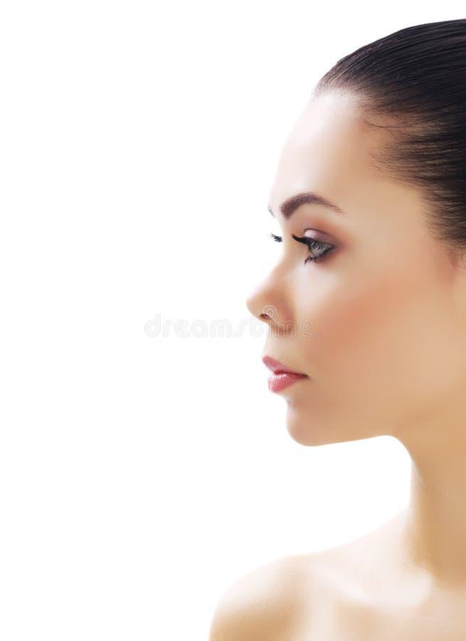 Mooi meisje met schone verse huid stock foto