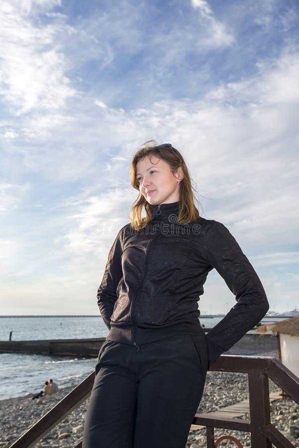 Mooi meisje op het strand #6 royalty-vrije stock fotografie