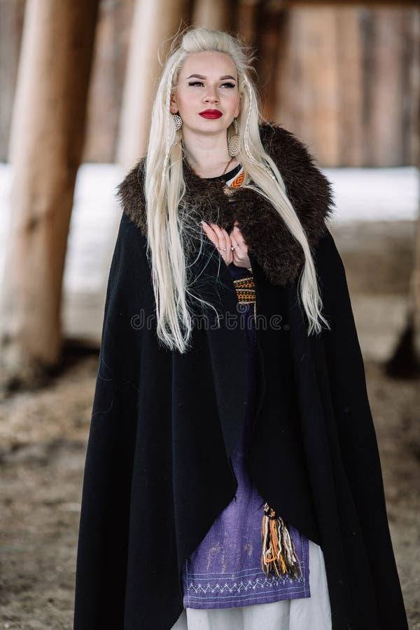 Mooi meisje Viking stock foto's
