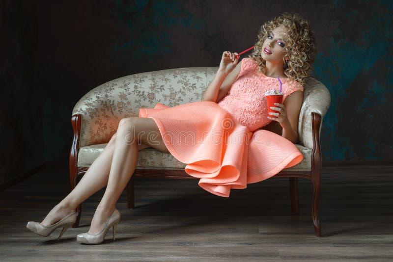 Mooi meisjesmodel royalty-vrije stock fotografie