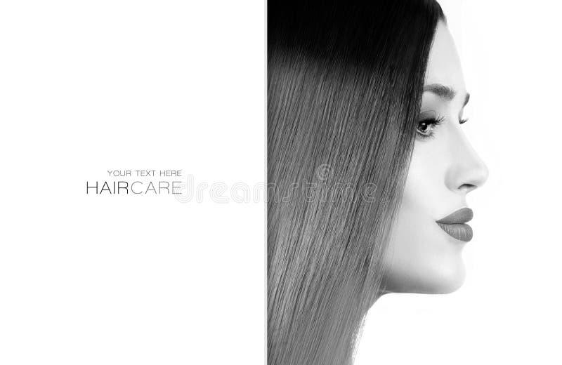 Mooi modelmeisje met gezond lang haar Haarverzorgingconcept stock foto