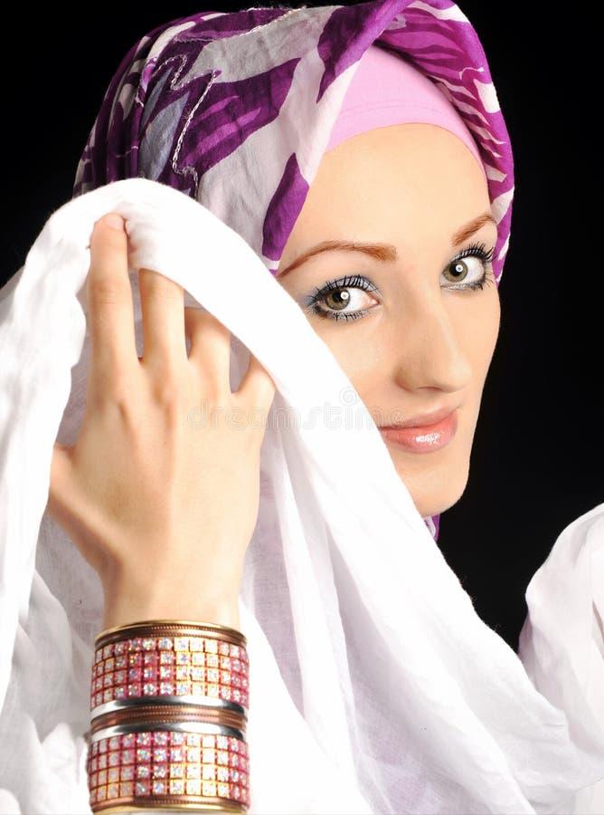 Mooi Moslimmaniermeisje royalty-vrije stock fotografie