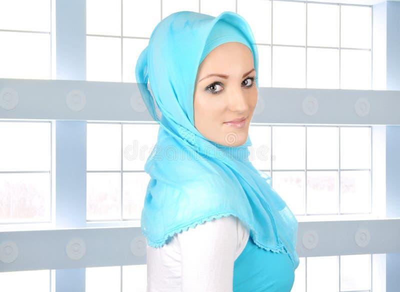 Mooi Moslimmaniermeisje royalty-vrije stock afbeelding