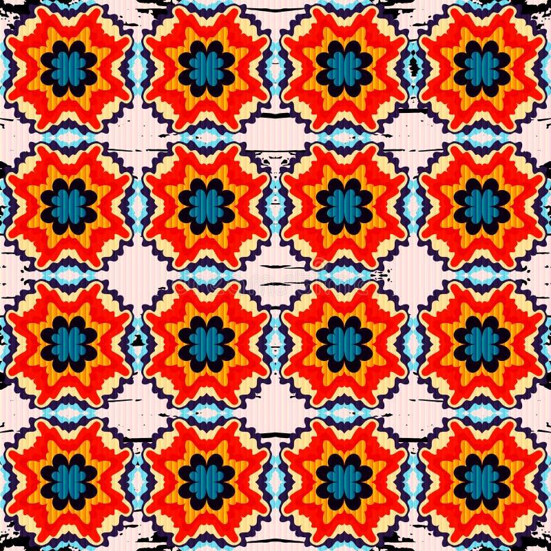 Mooi naadloos patroon Decoratieve Elementen Vector illustratie stock illustratie