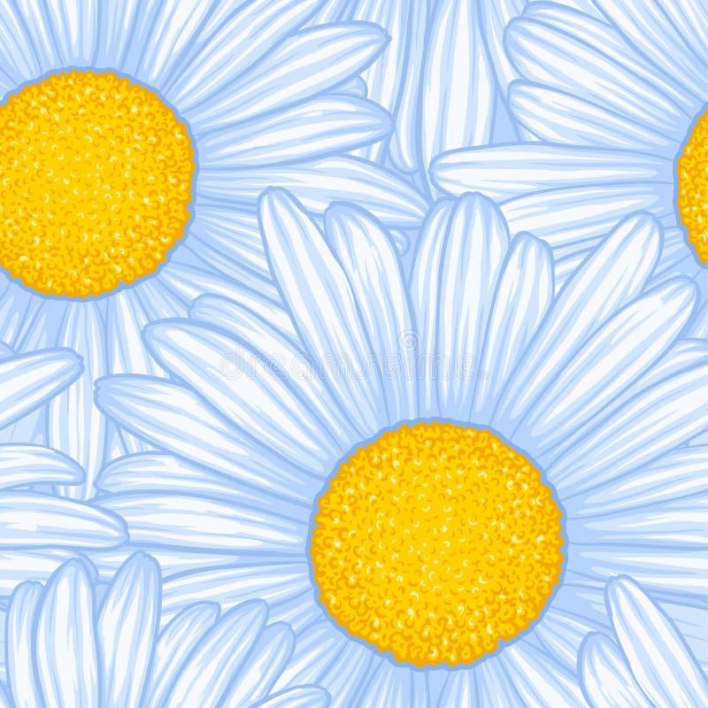 Mooi naadloos patroon met bloemenmadeliefje Ontwerp voor groetkaarten en uitnodigingen vector illustratie