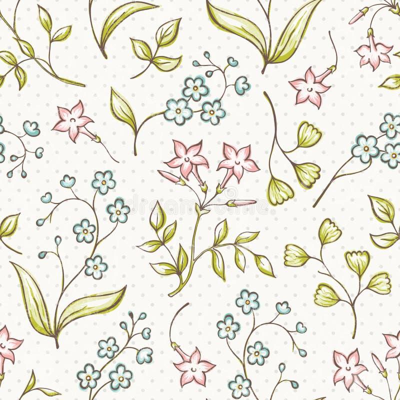 Mooi naadloos patroon met vergeten-me niet en royalty-vrije illustratie