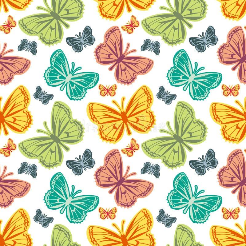 Mooi naadloos patroon met vlinders royalty-vrije illustratie