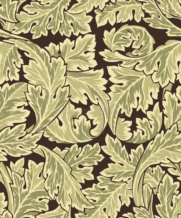 Mooi naadloos rococo patroon stock illustratie