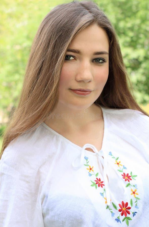 Mooi Oekraïens meisje royalty-vrije stock foto's