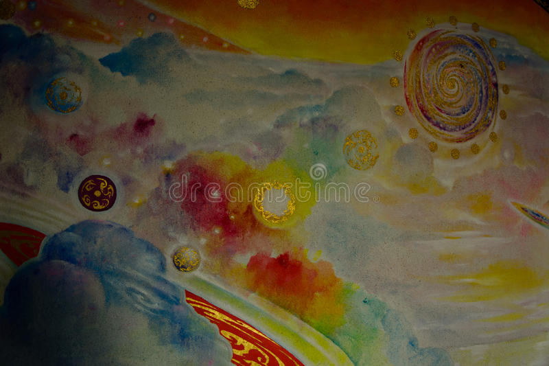 Mooi olieverfschilderij stock afbeeldingen