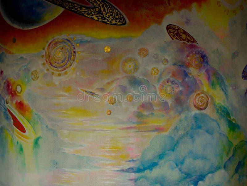 Mooi olieverfschilderij stock afbeelding