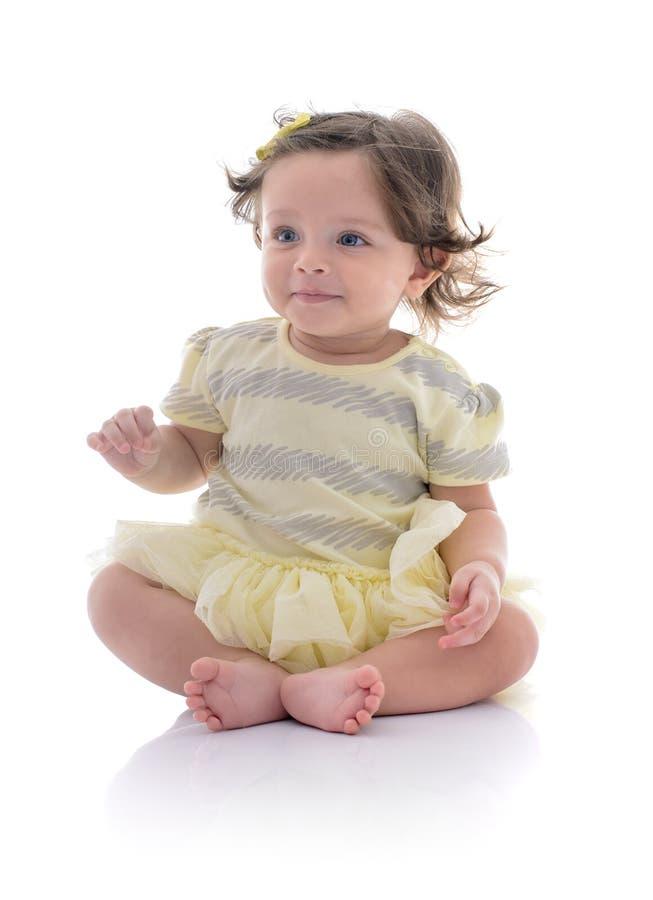 Mooi Onschuldig Meisje met een Glimlach stock foto