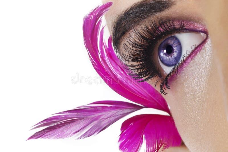Mooi oog stock afbeelding