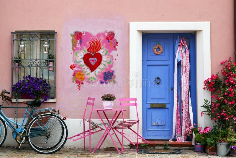 Mooi oud huis Rimini stock foto's