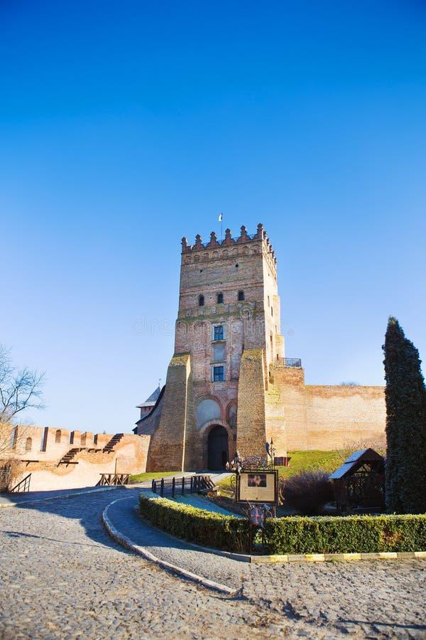 Mooi oud kasteel Lubart in Lutsk, de Oekraïne royalty-vrije stock afbeeldingen