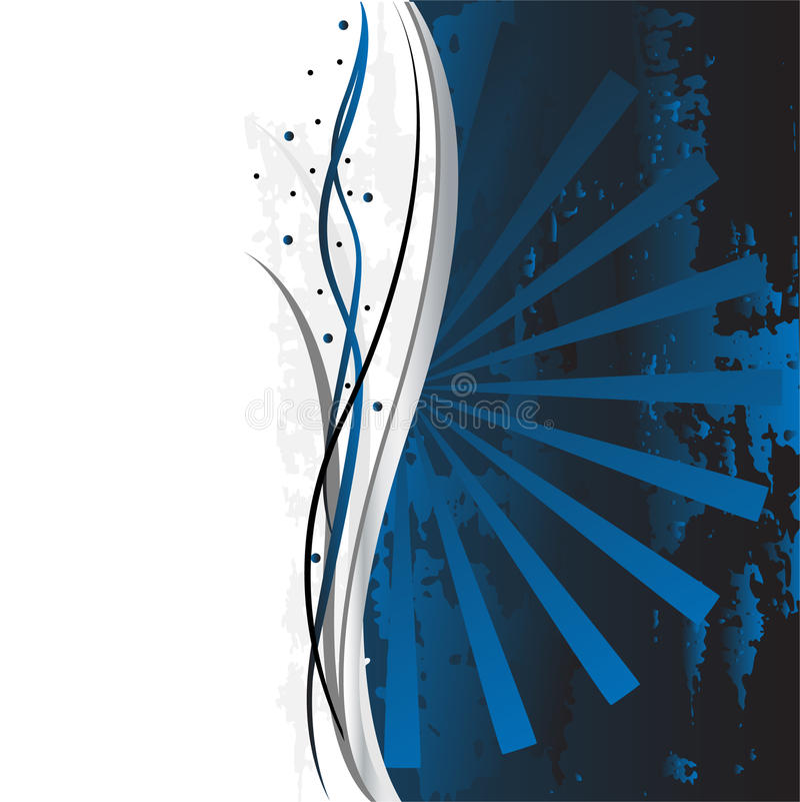 Mooi overladen blauw als achtergrond royalty-vrije illustratie