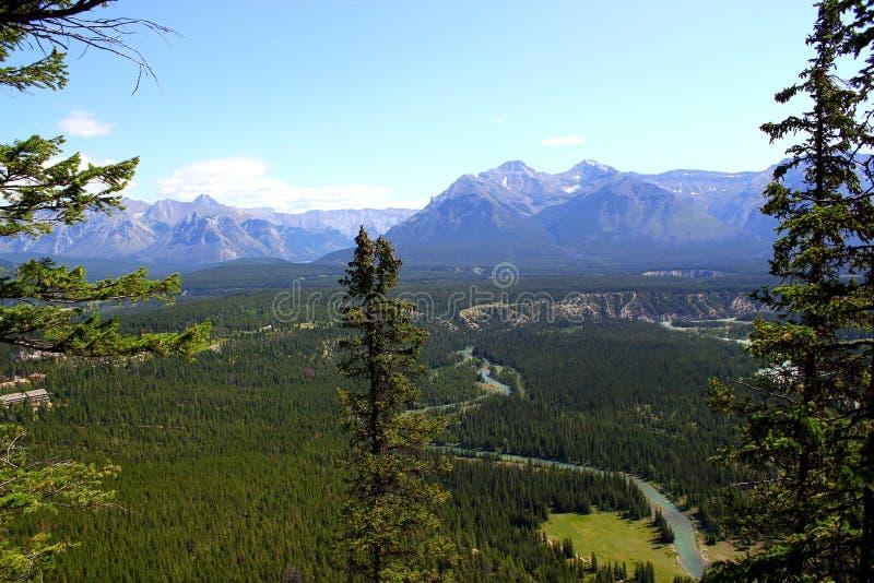 Mooi panorama: Prachtige aard in Banff Nationalpark royalty-vrije stock afbeeldingen