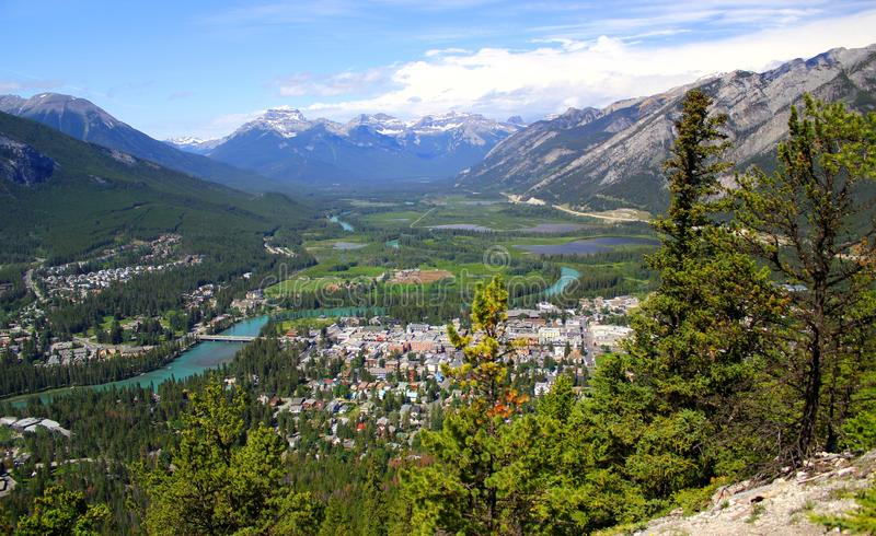 Mooi panorama: Prachtige aard in Banff Nationalpark stock afbeeldingen