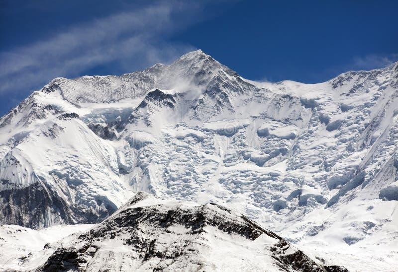 Mooi panorama van de bergen van Himalayagebergte royalty-vrije stock afbeeldingen