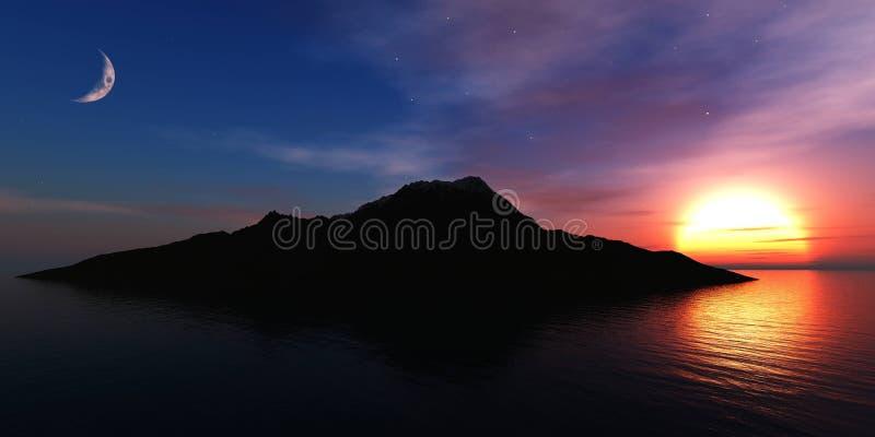 Mooi panorama van het overzees stock foto's