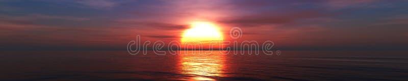 Mooi panorama van het overzees stock fotografie