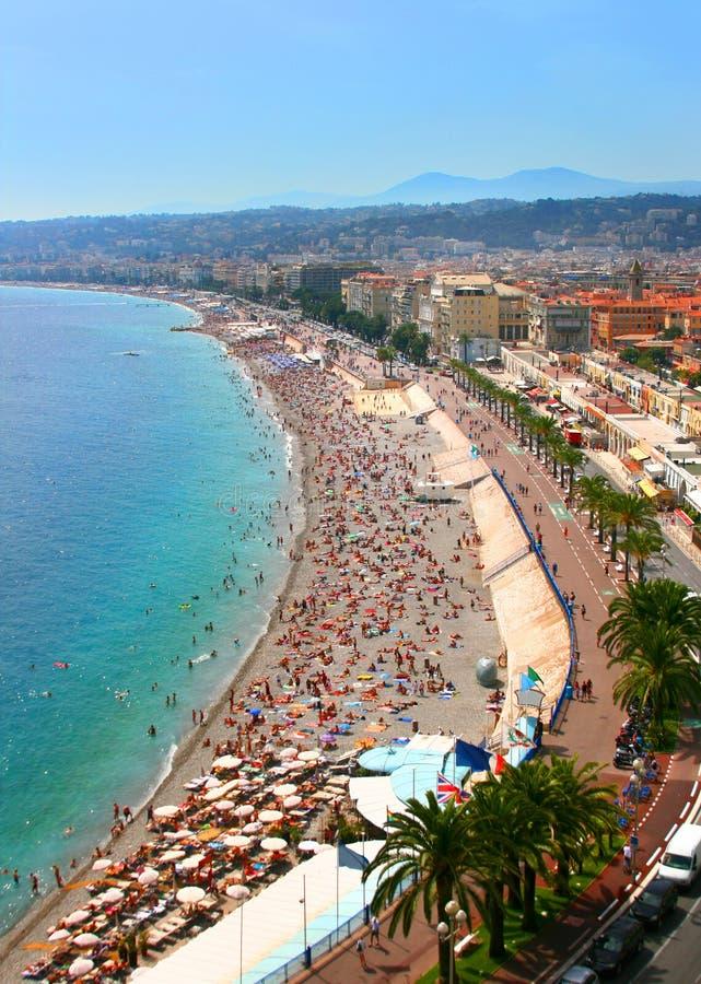 Mooi panorama van Nice, Frankrijk royalty-vrije stock foto's