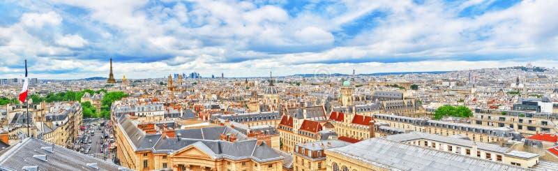 Mooi panorama van Parijs stock afbeeldingen