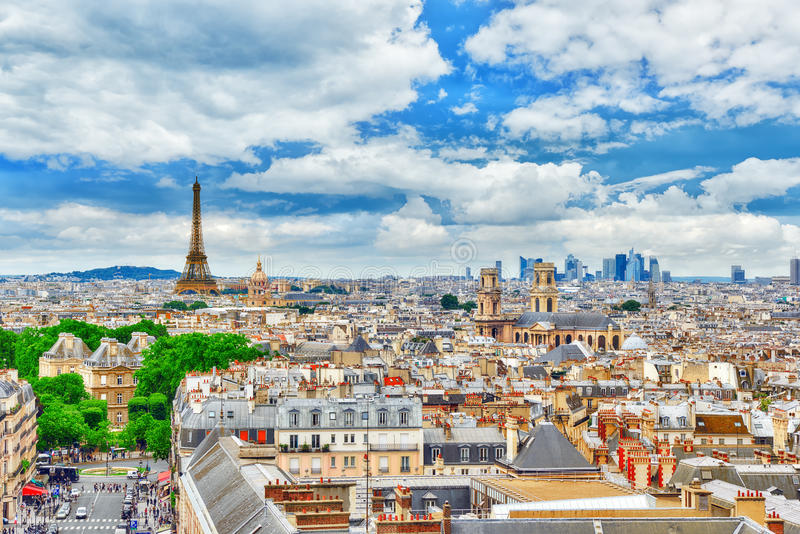 Mooi panorama van Parijs royalty-vrije stock afbeelding