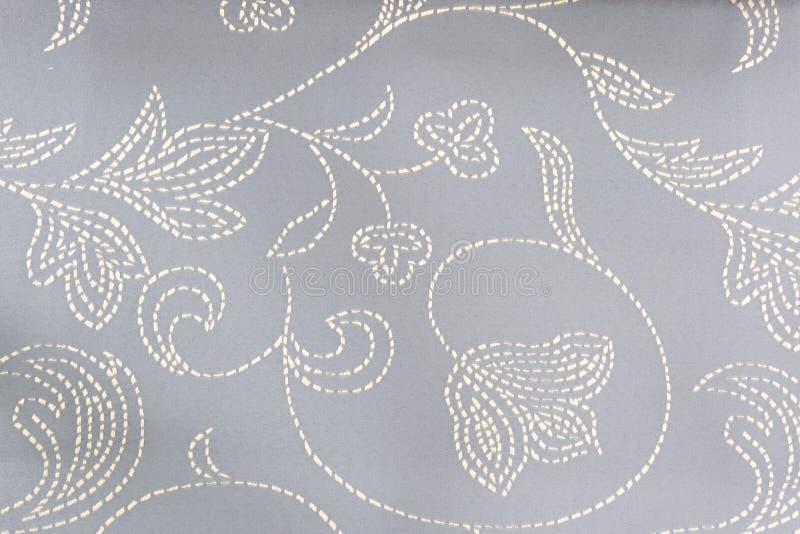 Mooi patroon op stoffendocument textuur stock foto's