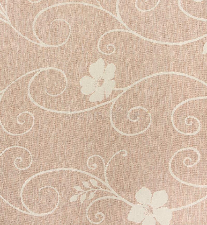 Mooi patroon op stoffendocument textuur royalty-vrije stock fotografie