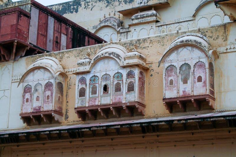 Mooi Paviljoen van een koninklijk paleis in India stock fotografie