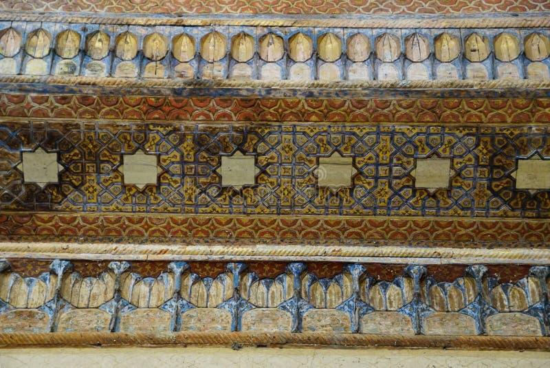 Mooi plafond van het Paleis van Chehel Sotoun in Isphahan, Iran stock afbeeldingen