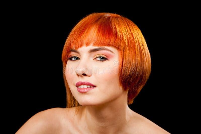 Mooi redhead gezicht royalty-vrije stock foto