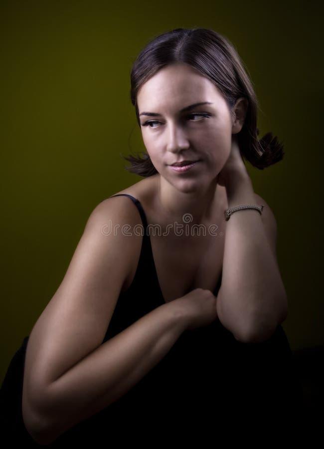 Mooi retro meisje royalty-vrije stock foto