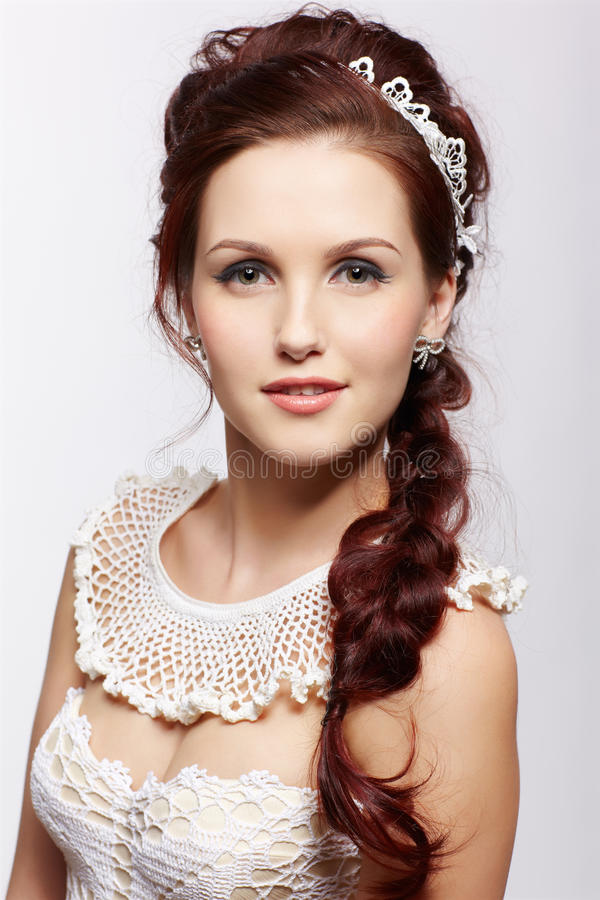 Mooi retro meisje royalty-vrije stock foto's